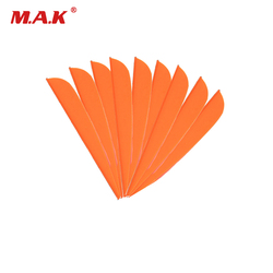 2 Color 36/60pcs 4 Inches Plastic Arrow Feather Vans DIY Arrow for Outdoor Archery Hunting Shooting