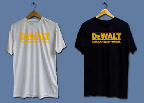 Make T Shirts Short O-Neck Tall New Dewalt Power Tools Logo T Shirt For Men