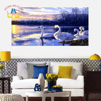 HOME BEAUTY 50 100 Painting Calligraphy Diy Pictures By Numbers Wall Picture For Living Room Diy