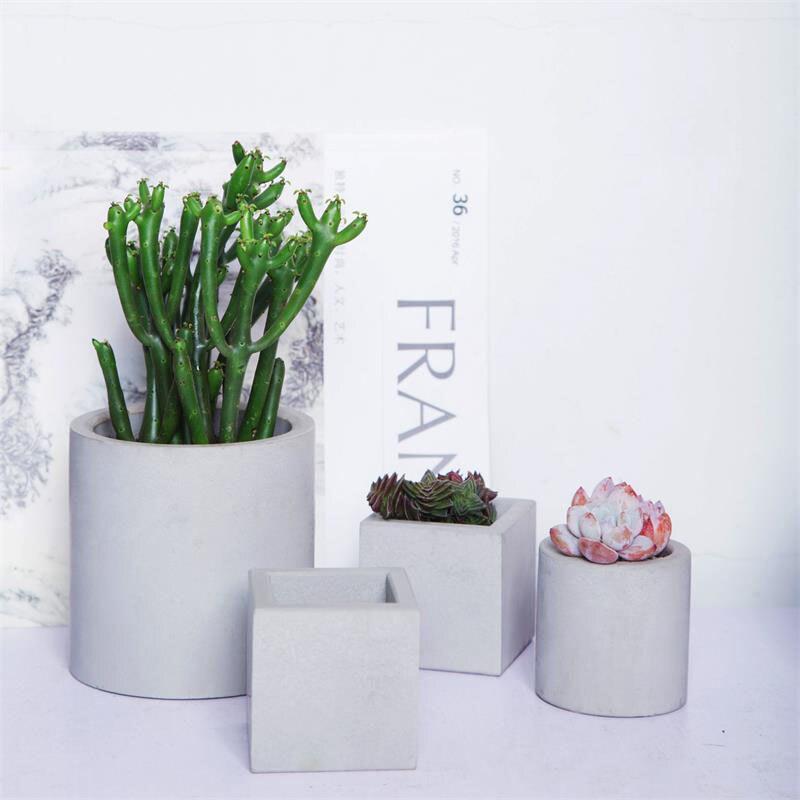 cimento plantador 3d vaso molde sílica gel