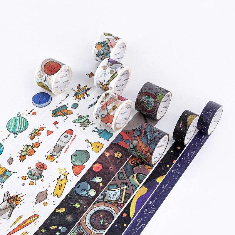 1Pc Planet Universe Series Series Washi Tape Adhesive Tape DIY Scrapbooking Sticker Label Masking Tape