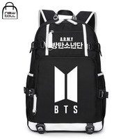 NEWTALL Kpop BTS Bangtan Boys 2017 New Logo ARMY Letter Backpack Large Capacity 17 Travelling