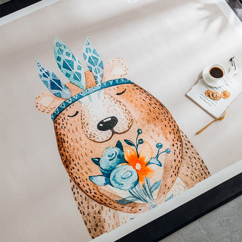 Infantile brillant bébé tapis de jeu Europe du nord tapis épaississement enfants chambre décor salon tapis antidérapant tapis Puzzle - 3