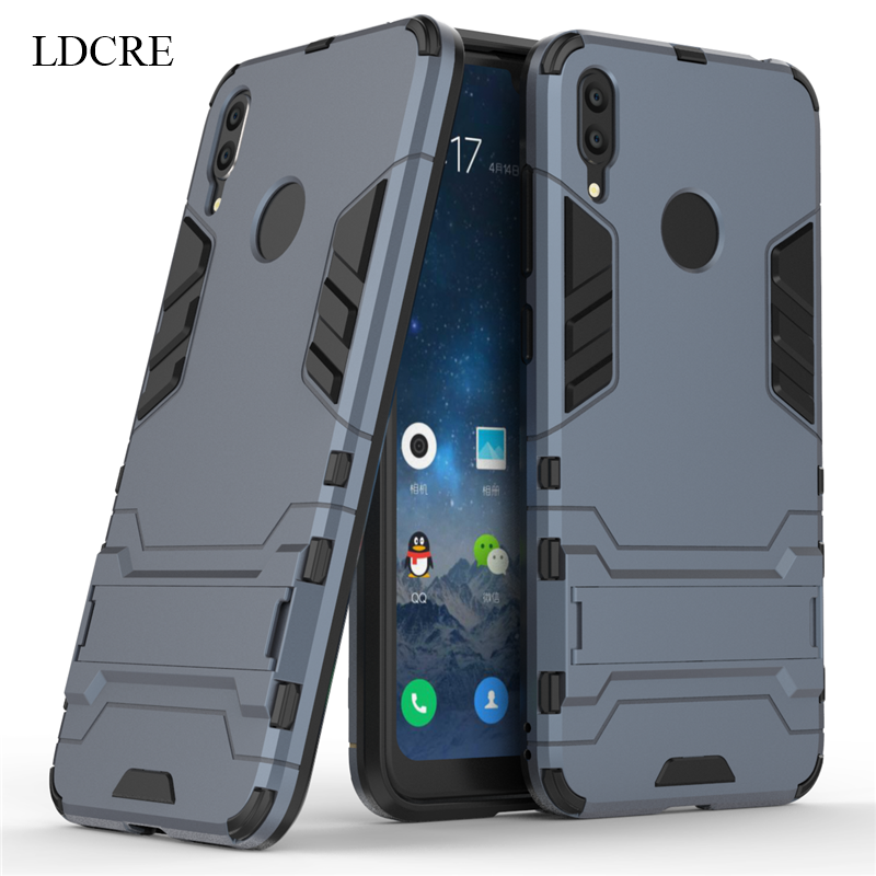 For Huawei Y7 Prime 2019 Case Luxury Robot Hard Back Phone Case For Huawei Y7 2019 Back Cover For Huawei Y7 Prime 2019 Fundas in Fitted Cases from Cellphones Telecommunications