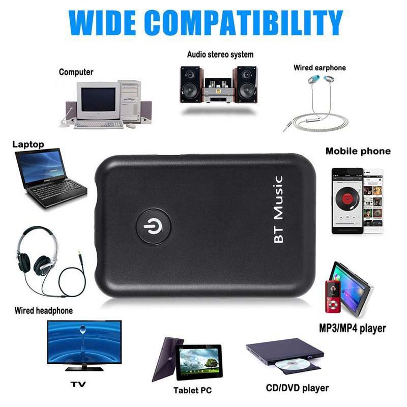 2 in 1 Wireless Bluetooth 4.2 Transmitter Receiver Stereo Audio Music Adapter XXM8 bti 010 2 in 1 bluetooth transmitter
