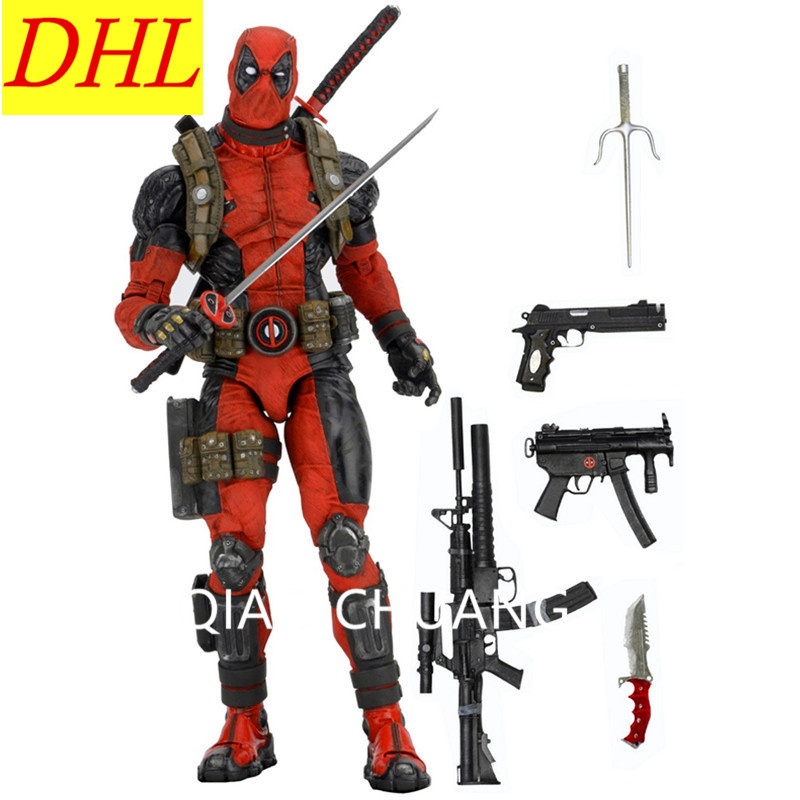 NEW 18 45CM Cartoon NECA EPIC Deadpool Ultimate 1/4 Scale PVC Action Figure Collectible Model Toy Exquisite RETAIL BOX S351 neca epic marvel deadpool ultimate collectible 1 4 scale action figure model toy 16 45cm ems free shipping