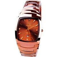 Origianl HK Marca aço Inoxidável Beerbarrel em forma de tungstênio calendário masculino relógios masculino relógio de Negócios 163752