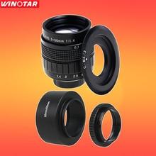FUJIAN 50mm f/1.4 CCTV F1.4 Lentille + C-M4/3 Mont + Lentille capot + Macro Ring pour Olympus Panasonic Micro 4/3 M4/3 M 4/3