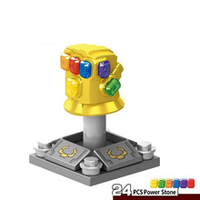 Marvel Avengers Infinity War Super Heroes Thanos Gauntlet With 24Pc stones Building Block Toy