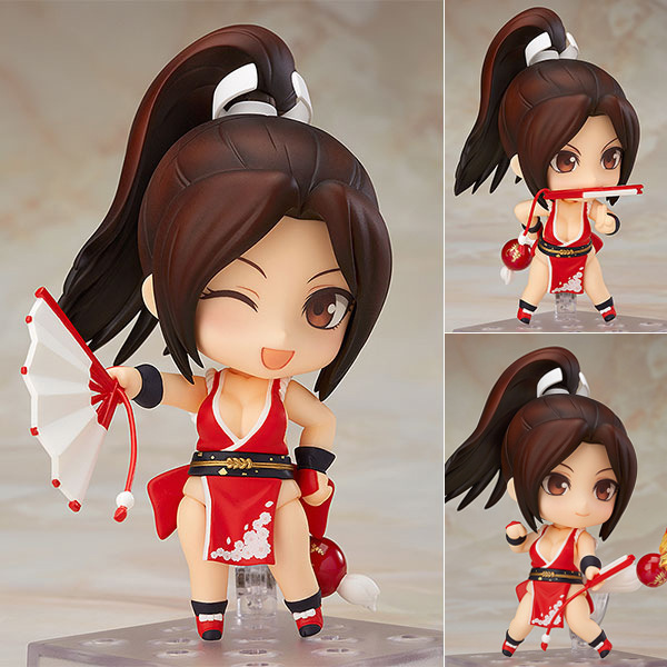 10cm Japanese classic anime figure Nendoroid 684# THE KING OF FIGHTERS Mai Shiranui Q version action figure collectible model to japan warring states warriors q version of the war era of japanese samurai toy model decoration collection 7pcs set