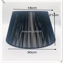 E27 Art Deco Lamp shade for table lamp   double fabric black  lampshade round lamp shade modern lamp cover for desk lamp table lamp shade cover floor lamp cover shade fabric lampshade light cover