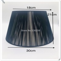 E27 Lampshae for table lamp coffee black color double lampshade for tablelamp