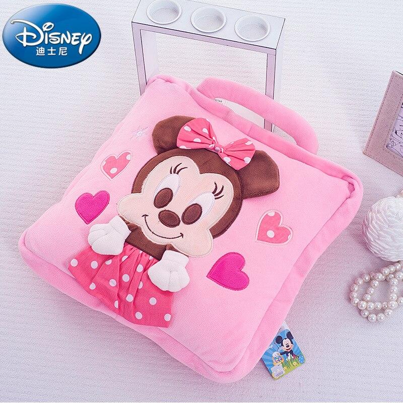 Disney Mickey Minnie ourson velours doux dessin animé bébé sieste couverture oreiller climatisation couverture a été amorti été 40x40 cm