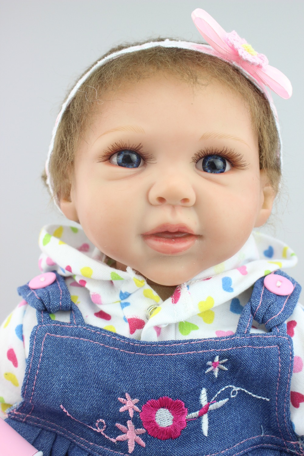 Newborn Simulation Babydoll Silicone Vinyl Doll Educational Enlightenment Baby toys Girls Present lovely doll newborn simulation babydoll silicone vinyl doll educational enlightenment baby toys girls present