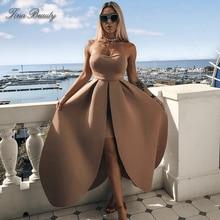 Pleated Bare Dresses V