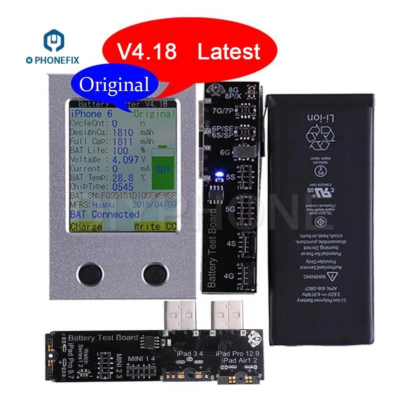PHONEFIX Batterij Tester Batterij Informatie Test Tool Voor iPhone X 8 8 p 7 plus 6 6 s 5 5 s 4 4 s iPad Mini Air Een Sleutel Clear Cyclus