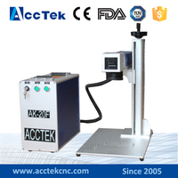 AccTek 20w fiber laser mark machine for sale for metal and nonmetal materials