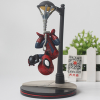 Comic The Amazing Spider Man Pvc Action Figure Spiderman Street Light Ver Collection Toys