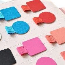 Pen-Holder Notebook Elastic-Loop Office-Supplies Papeleria 1pc Rubber PU Self-Adhesive