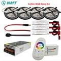 DC12V RGB Led Strip SMD 5050 Waterdicht/Niet Waterdicht Led Light + 2.4G RF Afstandsbediening + Power adapter Kit 5 M 10 M 15 M 20 M