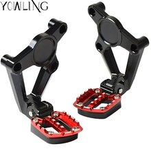 Motorcycle Foot rests xadv x-adv Black Red Rear Passenger Peg Footrest & Bracket for HONDA X-ADV XADV X ADV 750 2017 2018