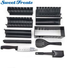 Sweettreats 12 Teile/satz Sushi Maker Werkzeuge Reis Rolle Bälle Formen Haushalt Küche Handmade DIY Gerichte Helfer Geschirr