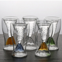 100ml Handmade Fishtail Whisky Vodka Cups Crystal Glass Bar Tools