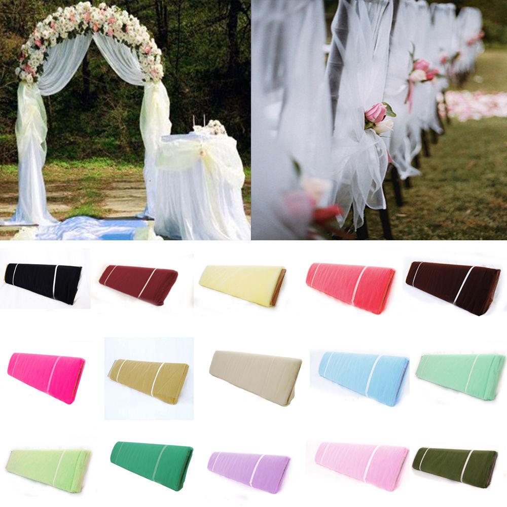 Tulle Fabric Wedding Decorations Popular Pew Wedding Decorations Buy Cheap Pew Wedding Decorations