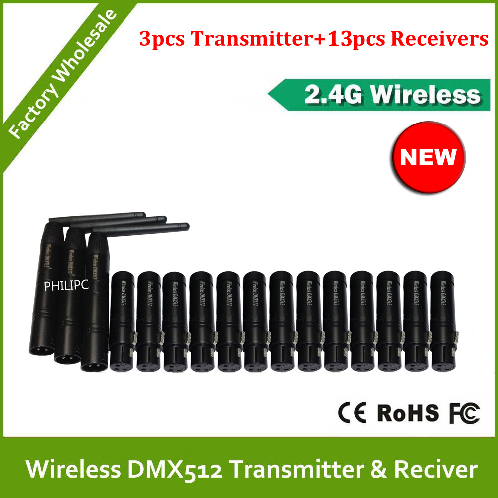 DHL Free Shipping Best quality!! 2.4G wireless dmx512 transmitter receiver, signal stability led dmx controller disco lights dmx