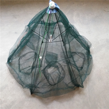 Folded Portable Hexagon 6 Hole 20 hole Automatic Fishing Shrimp Trap Fishing Net Fish Shrimp Minnow Crab Baits Cast Mesh Trap