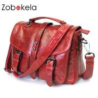 Zobokela High Quality Handbags Women Brands Retro Genuine Leather Bag Women Messenger Bags Shoulder Bags First