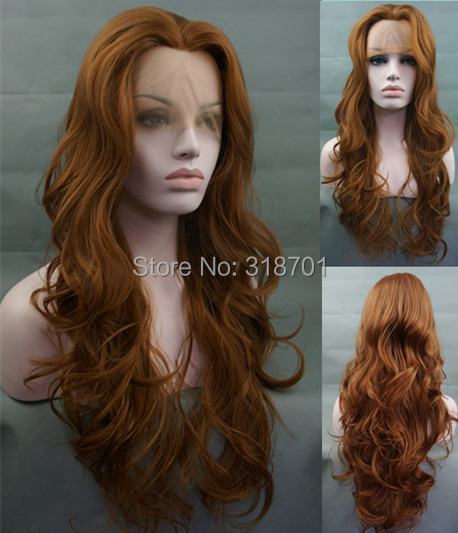 ФОТО Softly Tousled Sweeping Long HEAT FRIENDLY Lace Front Wig Auburn Under Lay free shipping