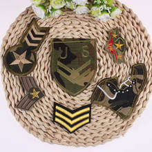 Prajna Mixed Cool Military medal Patch Cheap Embroidered Star Patches Iron On Kids Biker For Badges DIY Garment A