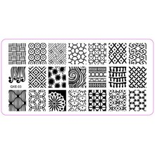 1Pcs Nail Stamping Plates (6*12cm) Stainless Steel Image Konad Stamping Nail Art Manicure Templates Nails Stamp Plates 20 Styles