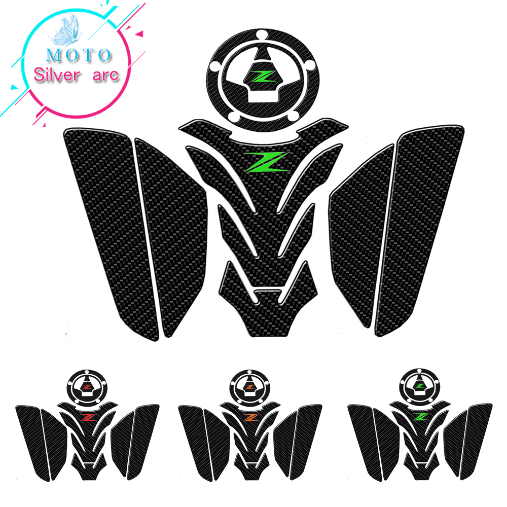 Z Logo Motorcycle 3D Tank Pad Protective Decal Sticker For Kawasaki Z750 Z800  Z1000