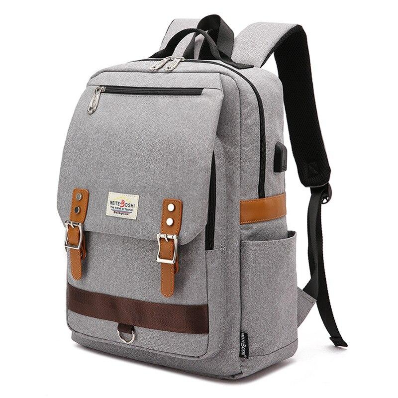 Men Leisure Outdoor Travel Backpack Satchel Students Bookbag Laptop Backpack
