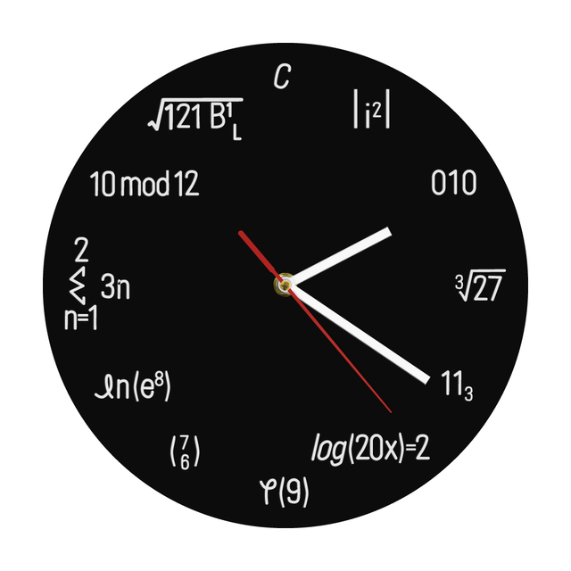1Piece Geek Equation Nerdy Wall Clock Watch Round Clock Math Formula Quartz  Wall Clock Gift Idea For Student Teacher 0f0f537008