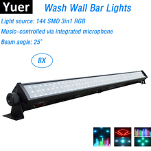 8 Stks/partij Led Bar Lichten 144Pcs Smd Leds Rgb Full Color Led Wall Wash Verlichting Perfect Voor Party Wedding disco Evenementen Verlichting