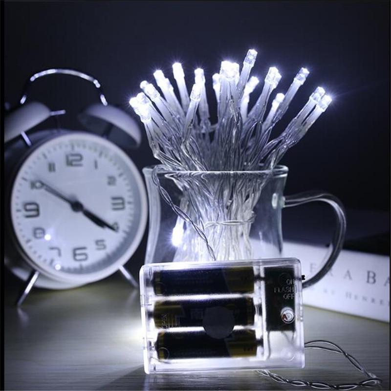 7.5 м 50 светодиодный 3XAA Батарея работает СВЕТОДИОДНЫЙ строка огни на Рождество гирлянды вечерние Свадебные украшения Рождественские <font><b>Flasher</b></font> ги&#8230;