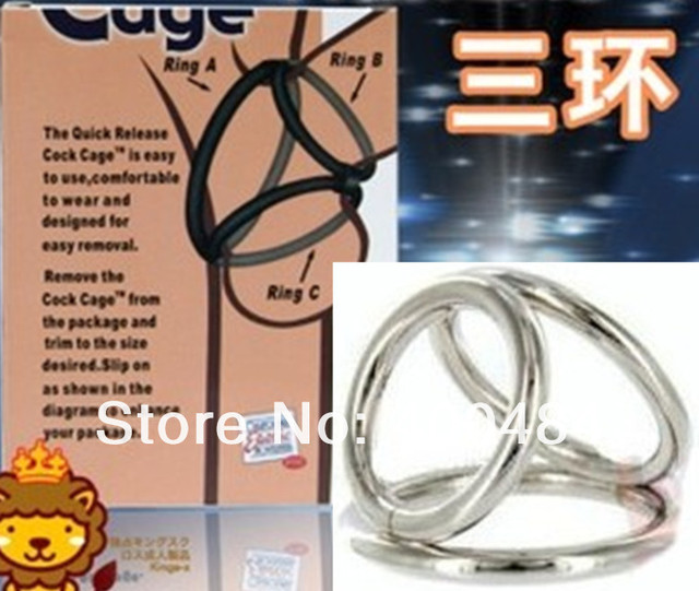 Penis Ring Cock Cage The Triple Helix Enhancer Male Sex Delay Device Adult Sex Toys For Men Yc1043