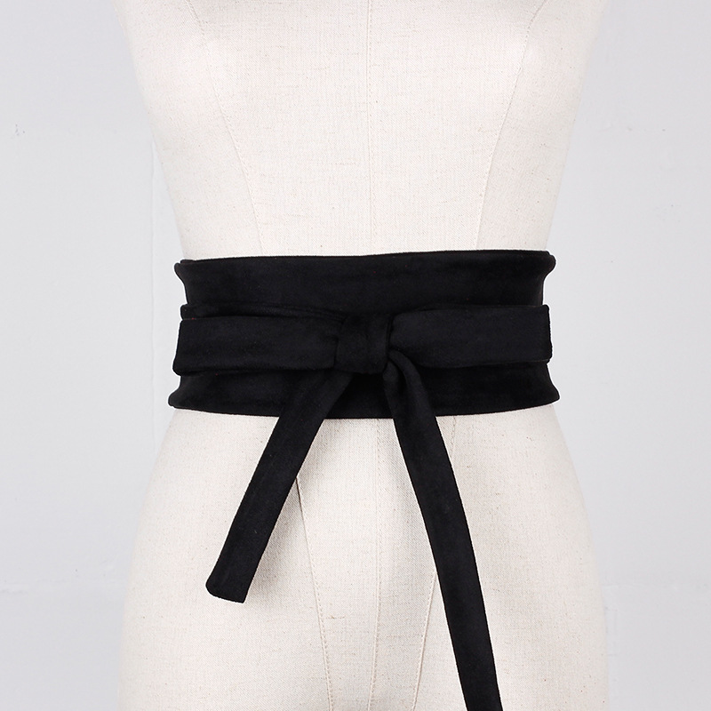 2020 Fashion Faux Leather Cummerbunds Wide Belt Women Elegant Designer Corset Waistband Dress Slimming Girdle Belt Ties Bow Band