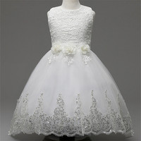 Children Girls Party Dress Formal Baby Girl Sleeveless Flower Wedding Chiffon Dresses With Big Bow Knot