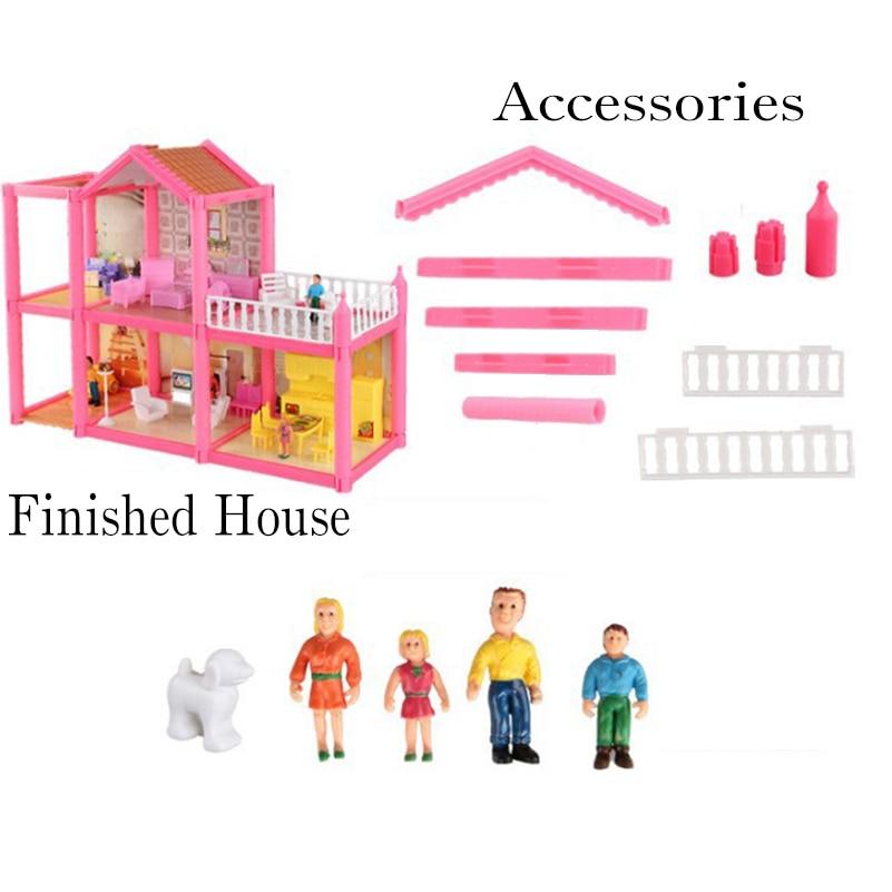 Yeni DIY Aile Bebek Evi Bebek Aksesuarları Oyuncak Ile Minyatür - Bebekler ve Aksesuarlar - Fotoğraf 5