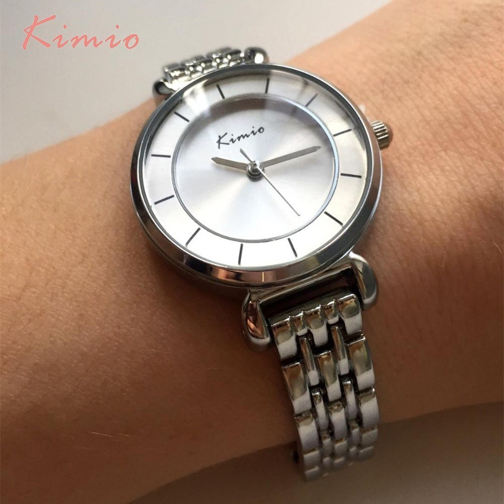 KIMIO Simple Women's Watch Armbånd Alloy Dameure Topmærke Luxury - Dameure - Foto 3