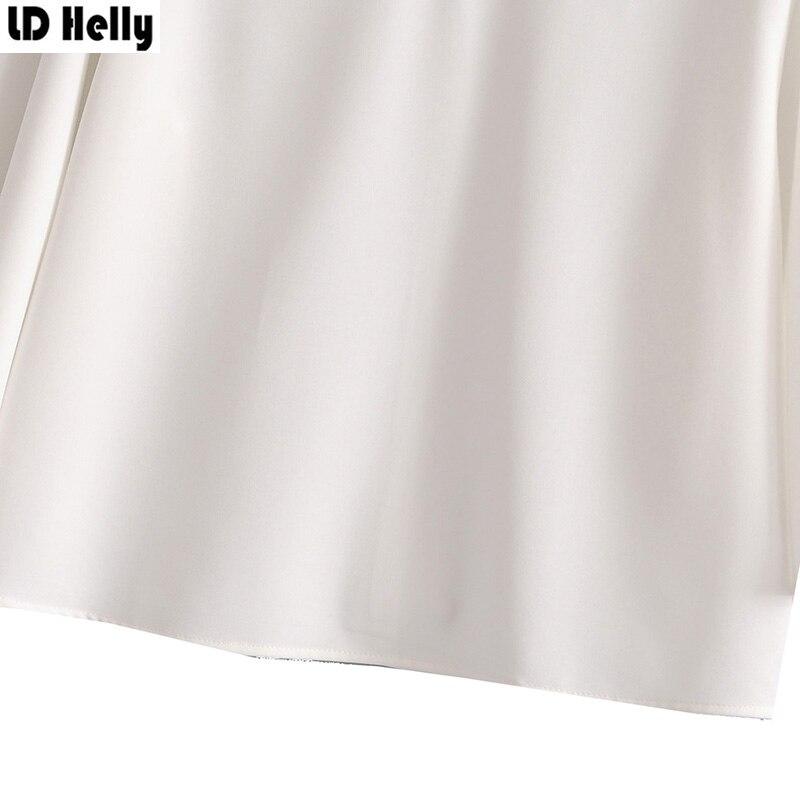 LD Helly 2018 Women Solid Beading Bloues Fashion O-Neck Three Quarter Sleeve Shirts Female Casual Loose Tops Blusas Feminina