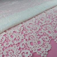 Tanie białawej koronki Gipiury koronki tkaniny na sukni ślubnej nigerain hurtownie