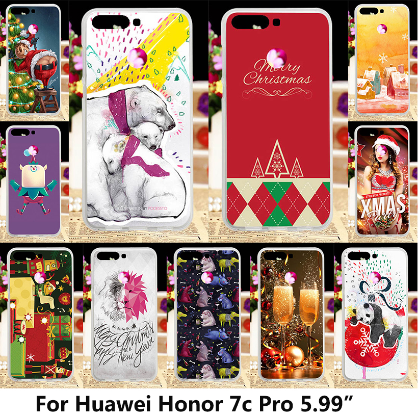 4b2f8e2f476 Merry Christmas Phone Cases For Huawei Honor 7C Case Cover Huawei Y7 Prime  Pro Silicone Soft TPU Back Cover Honor7c 5.99