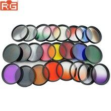 Filtro de lentes graduado com cor uv, nd cpl estrela MC UV para gopro canon nikon d5300 1200d 750d 700d câmera 52mm 58mm 52 58mm