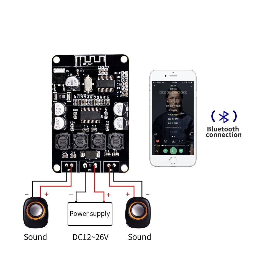 VHM-313 TPA3110 TPA3110D2 2x15W Bluetooth Digital Audio Power Amplifier Board for Bluetooth SpeakerVHM-313 TPA3110 TPA3110D2 2x15W Bluetooth Digital Audio Power Amplifier Board for Bluetooth Speaker