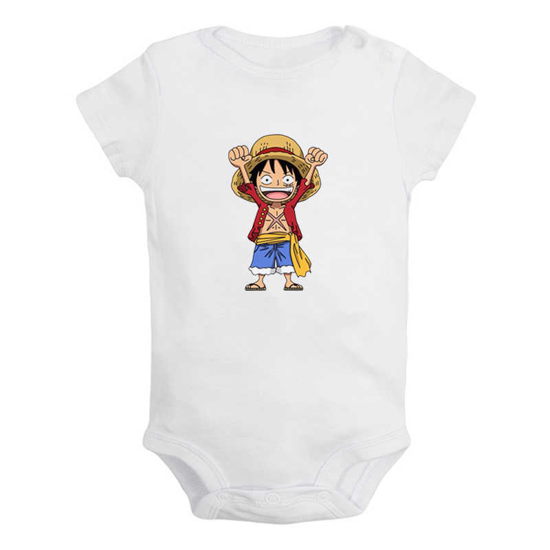 Anime One Piece Trafalgar Law Zoro Affe D. Luffy Tony Chopper Neugeborenen Baby Outfits Overall Print Infant Bodysuit Kleidung